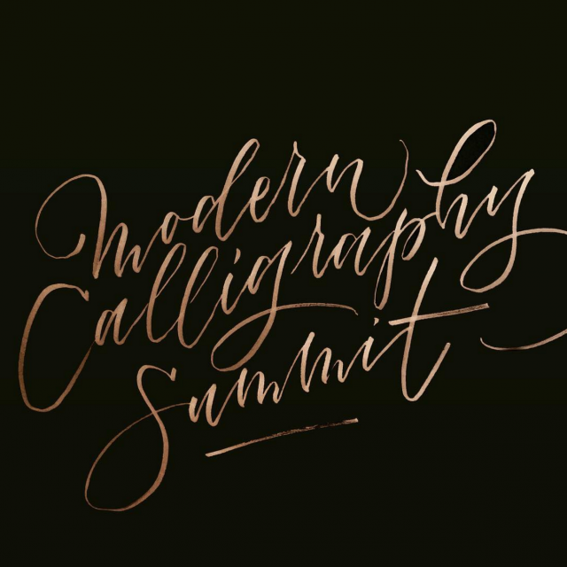 Modern Calligraphy Summit / Ashley Buzzy Lettering & Press