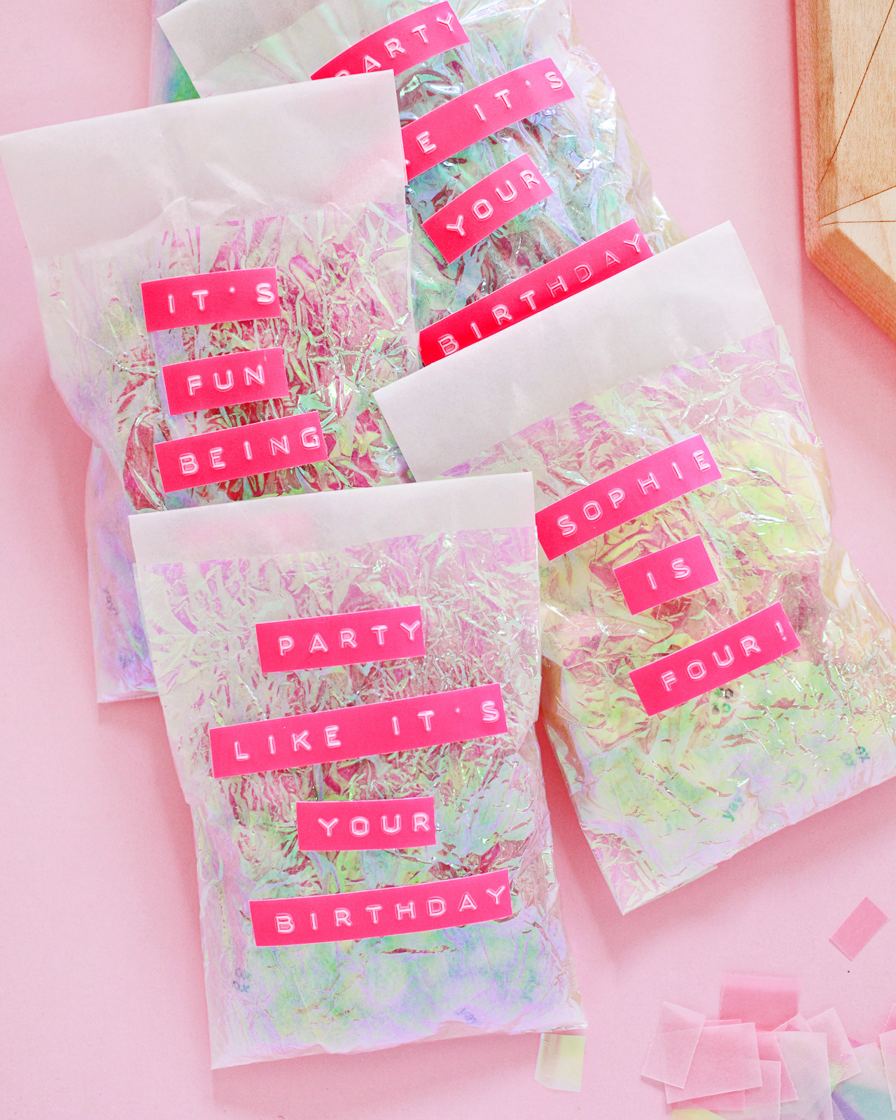 DIY Iridescent Favor Bags / Oh So Beautiful Paper