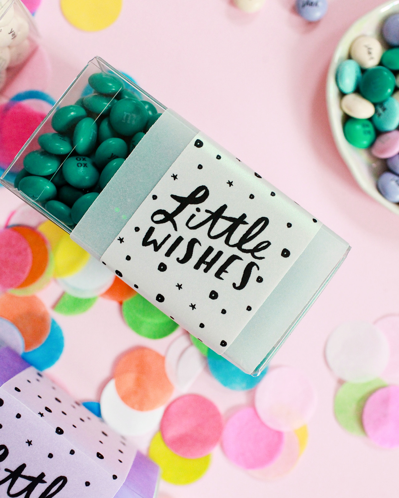 Printable Party Favor Tags with My M&Ms / Design by Swiss Cottage Designs / Oh So Beautiful Paper