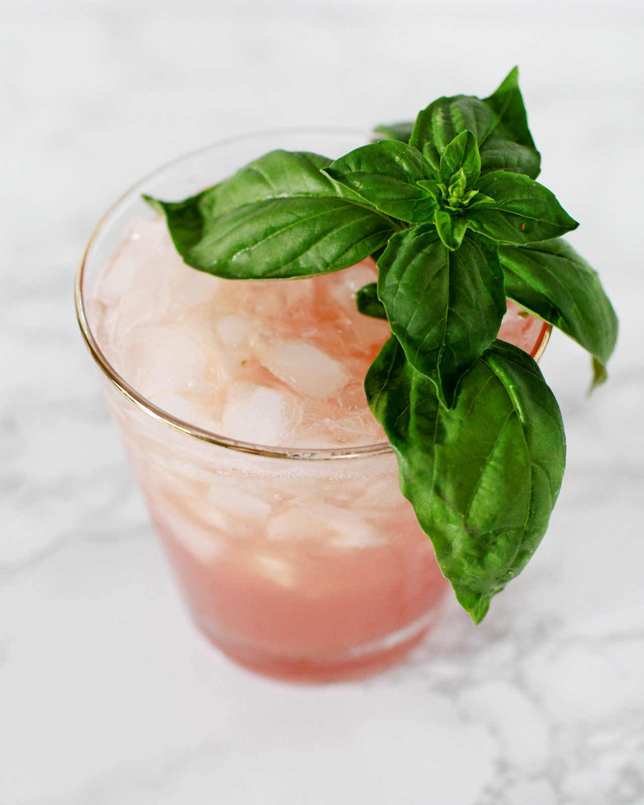 Watermelon-Basil Rum Smash Cocktail Recipe / Liquorary for Oh So Beautiful Paper