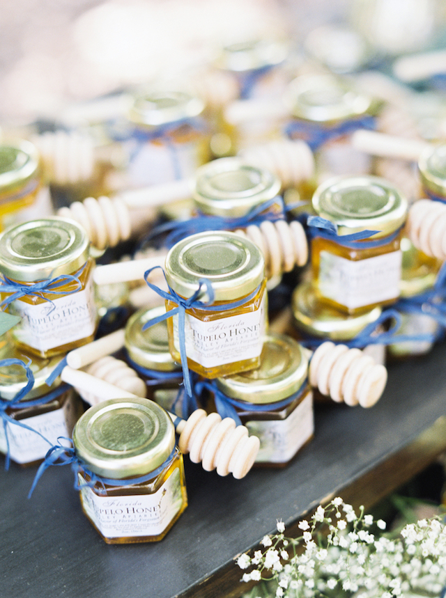 Wedding Stationery Inspiration: Edible Wedding Favors – Jars of Honey  / Oh So Beautiful Paper
