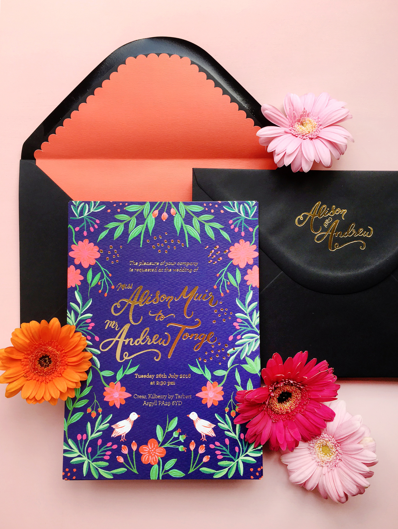Colorful Mexican Fete Inspired Wedding Invitations By Berinmade Oh So Beautiful Paper