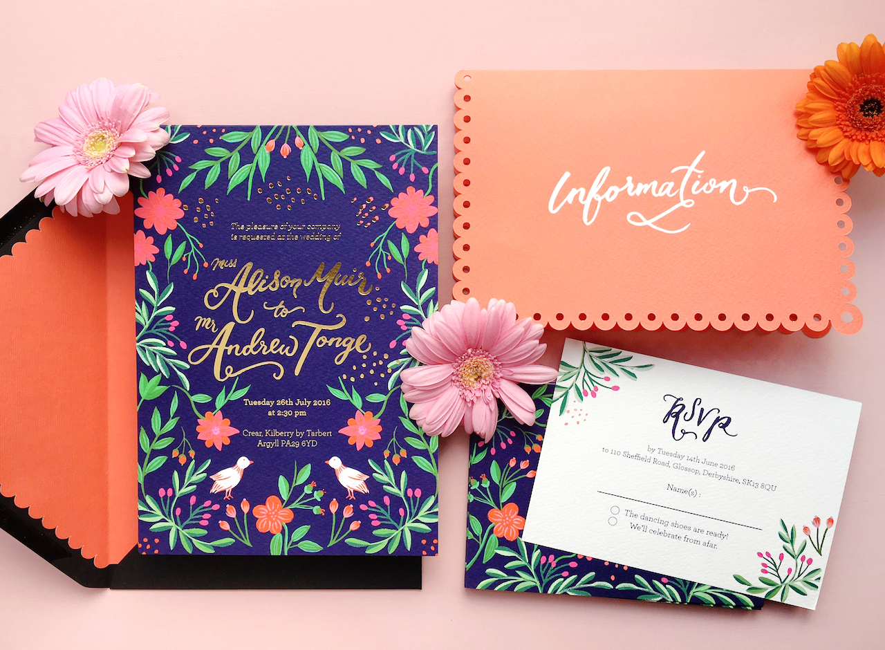 mexican wedding invitations. colorful mexican fete-inspired wedding invitations by berinmade / oh so beautiful paper a