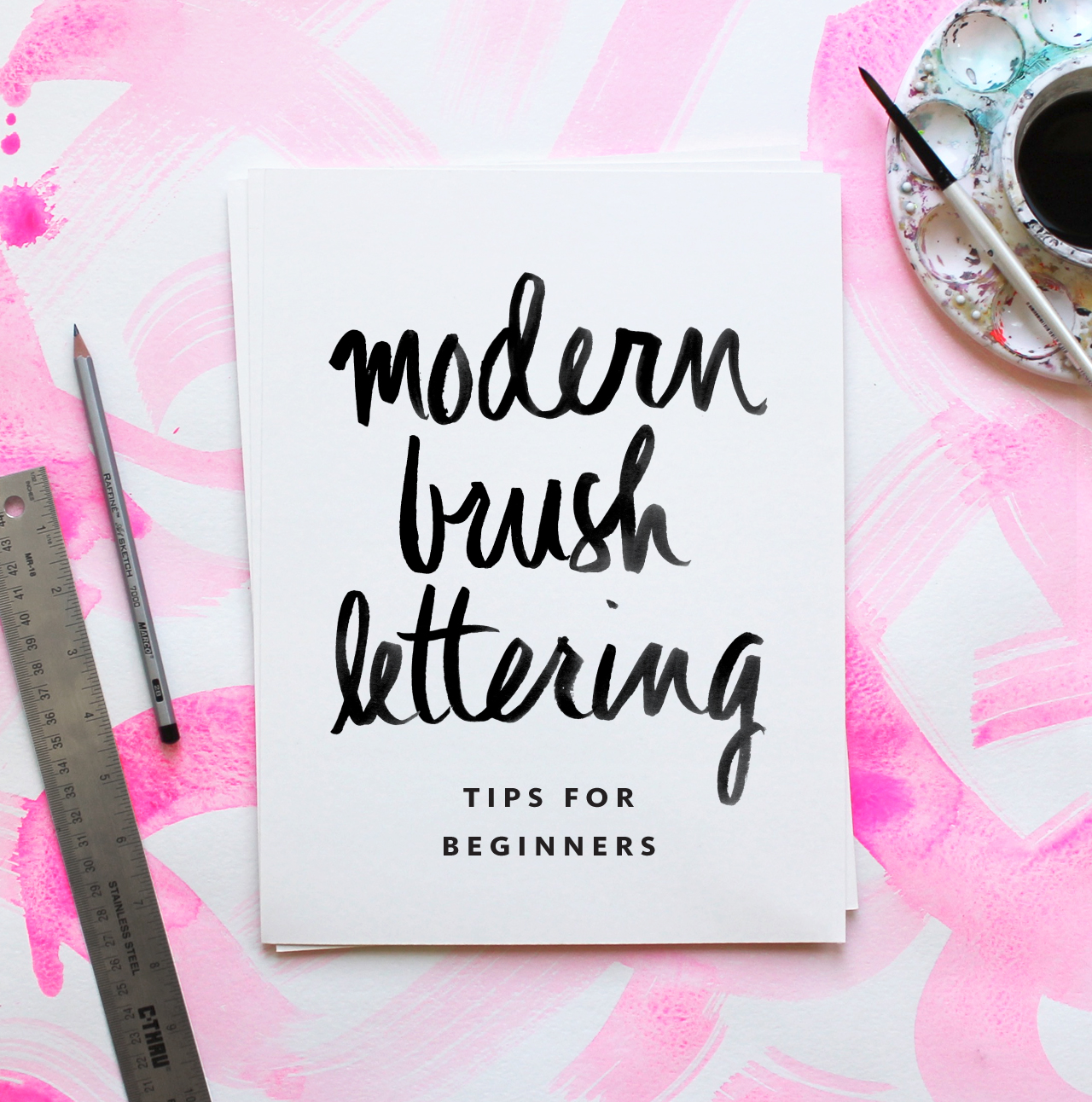 Modern Brush Lettering Tips for Beginners from Fine Day Press / Oh So Beautiful Paper
