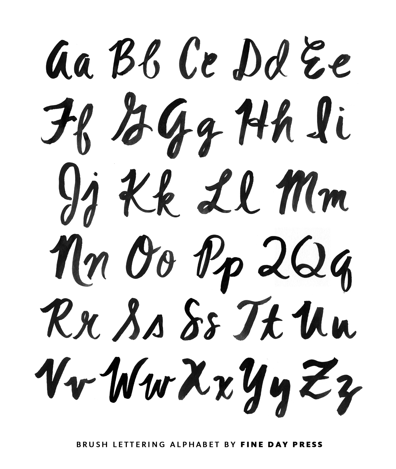 Modern Brush Lettering Tips for Beginners from Fine Day Press / Oh So ...
