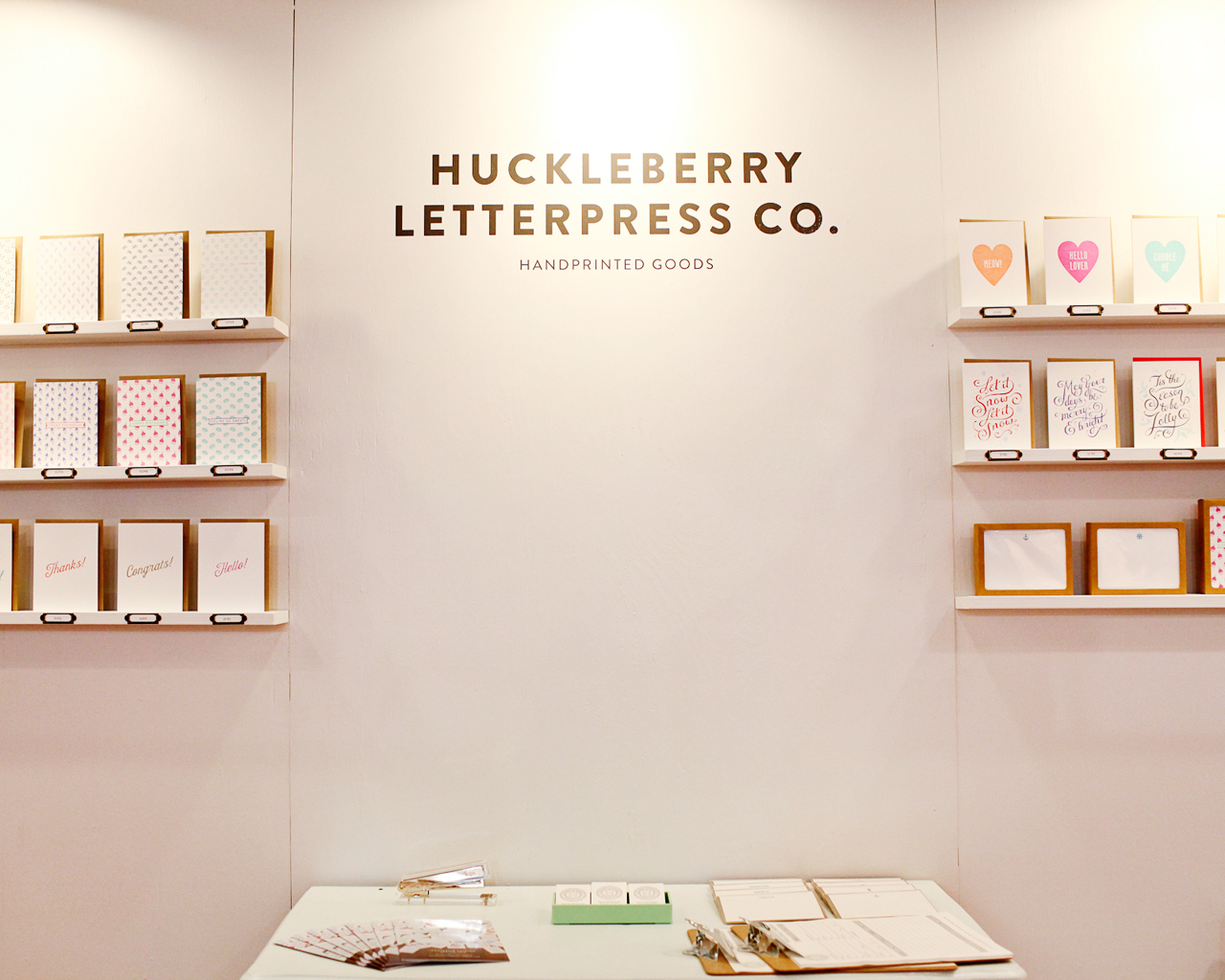 NSS 2016: Huckleberry Letterpress Co. / Oh So Beautiful Paper