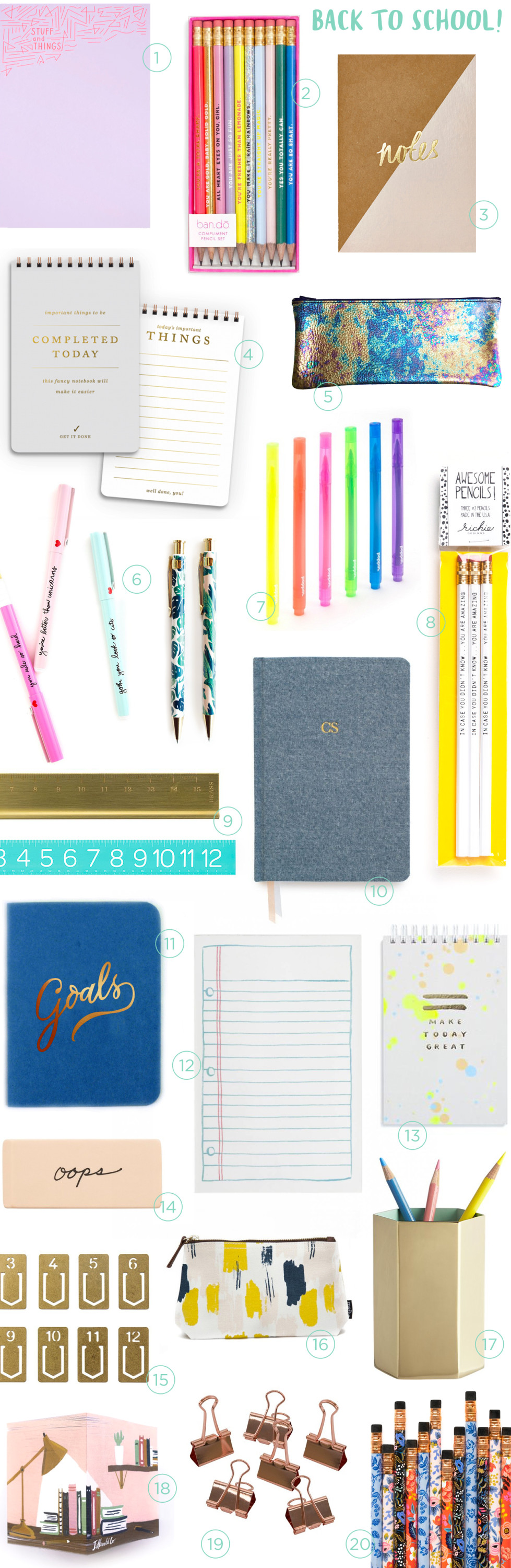 Stationery A-Z: Back to School Supplies / Oh So Beautiful Paper