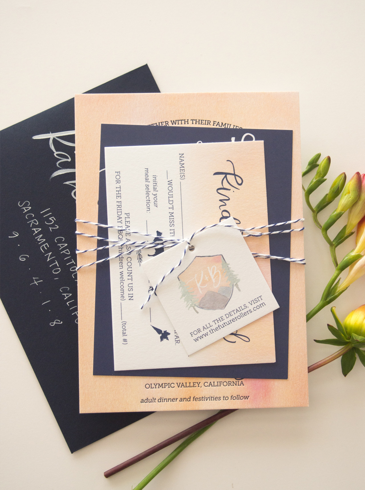 Watercolor Crest Wedding Invitations by Bright Room Studio / Oh So Beautiful Paper