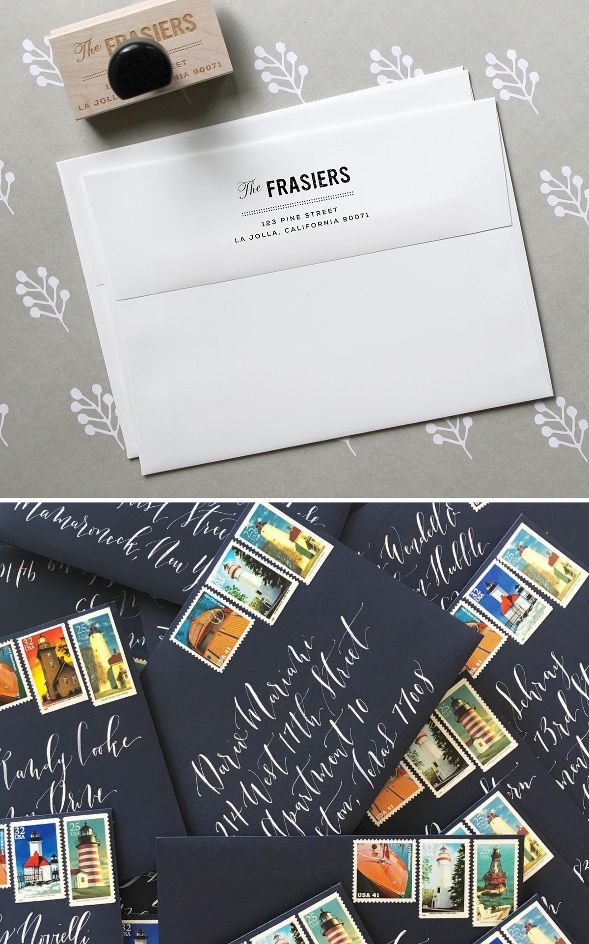 Wedding Invitation 101: Invitation Addressing and Mailing / Fine Day Press for Oh So Beautiful Paper