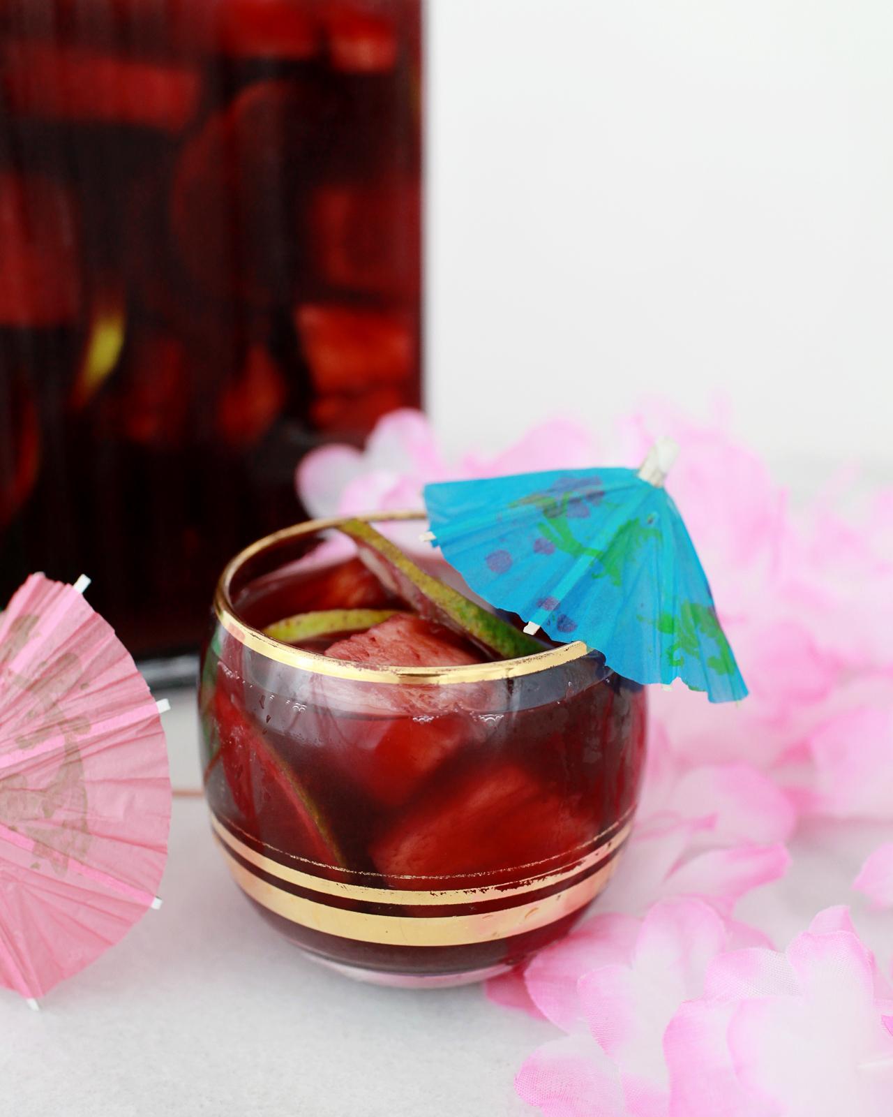 Tiki Sangria Recipe by Liquorary for Oh So Beautiful Paper
