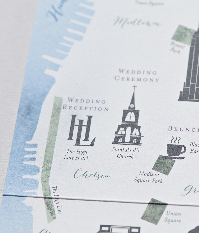 New york city inspired floral watercolor wedding invitations stopboris Choice Image