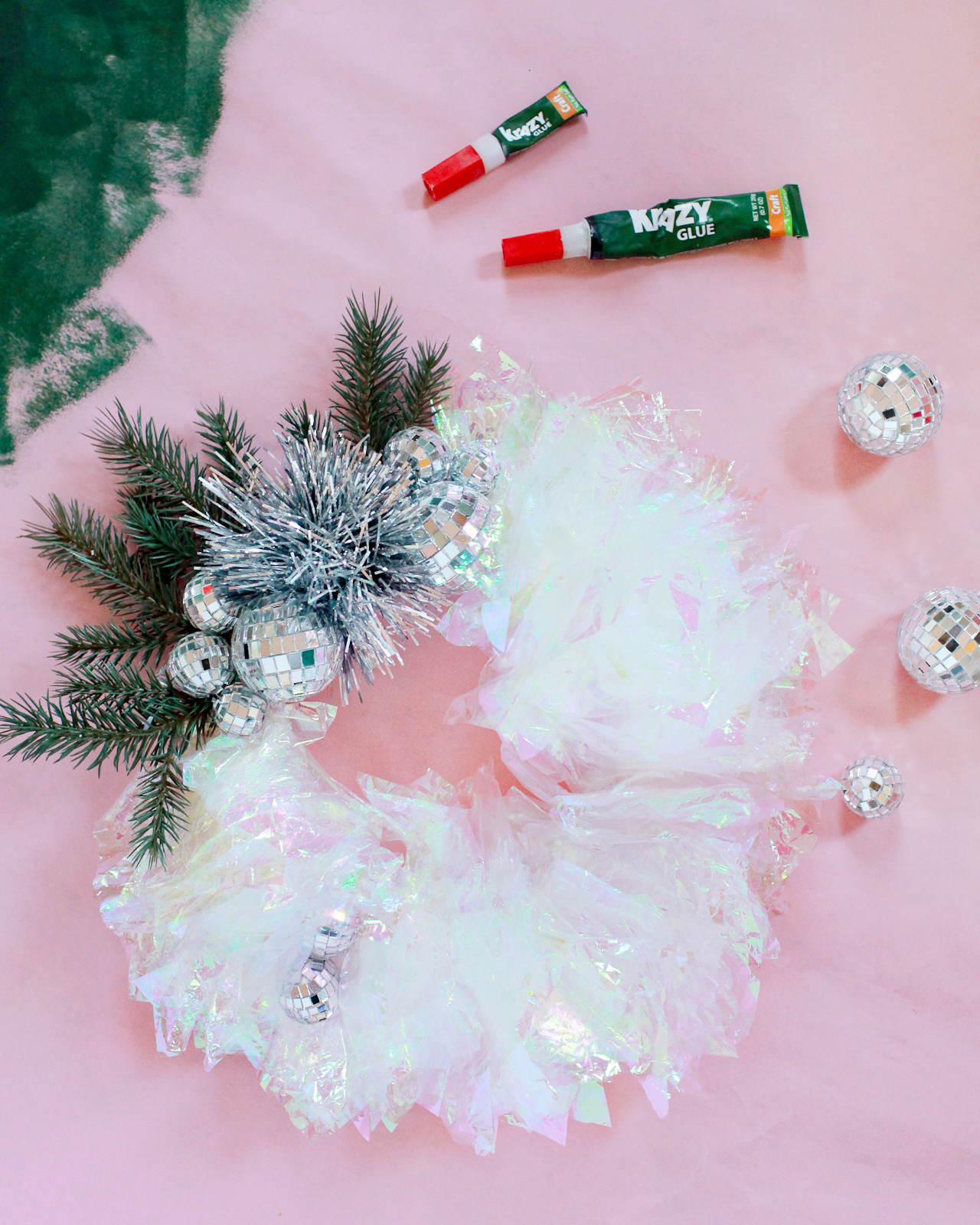 DIY Iridescent Winter Wreath