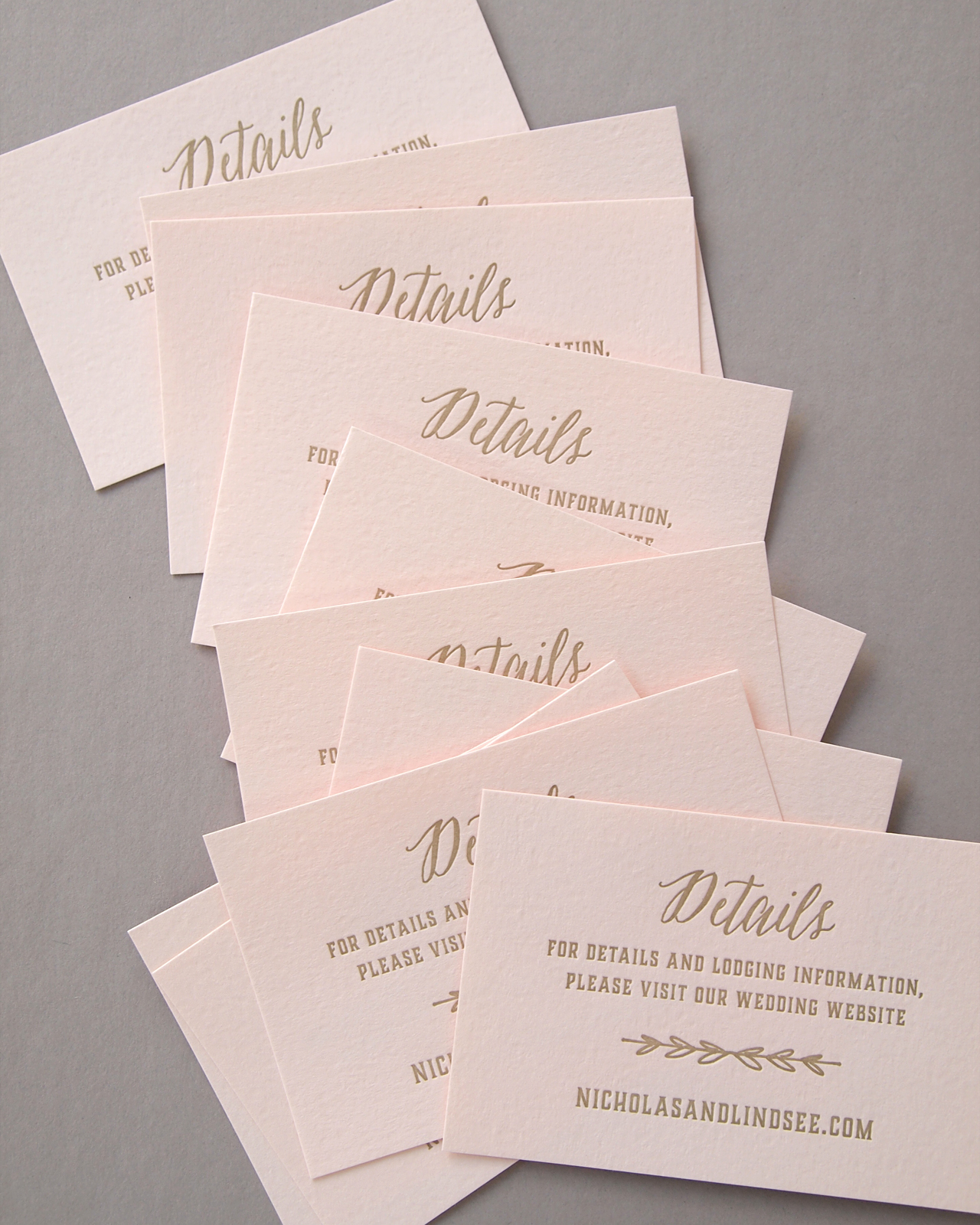 elegant blush and gold letterpress wedding invitations by missive - Fancy Wedding Invitations