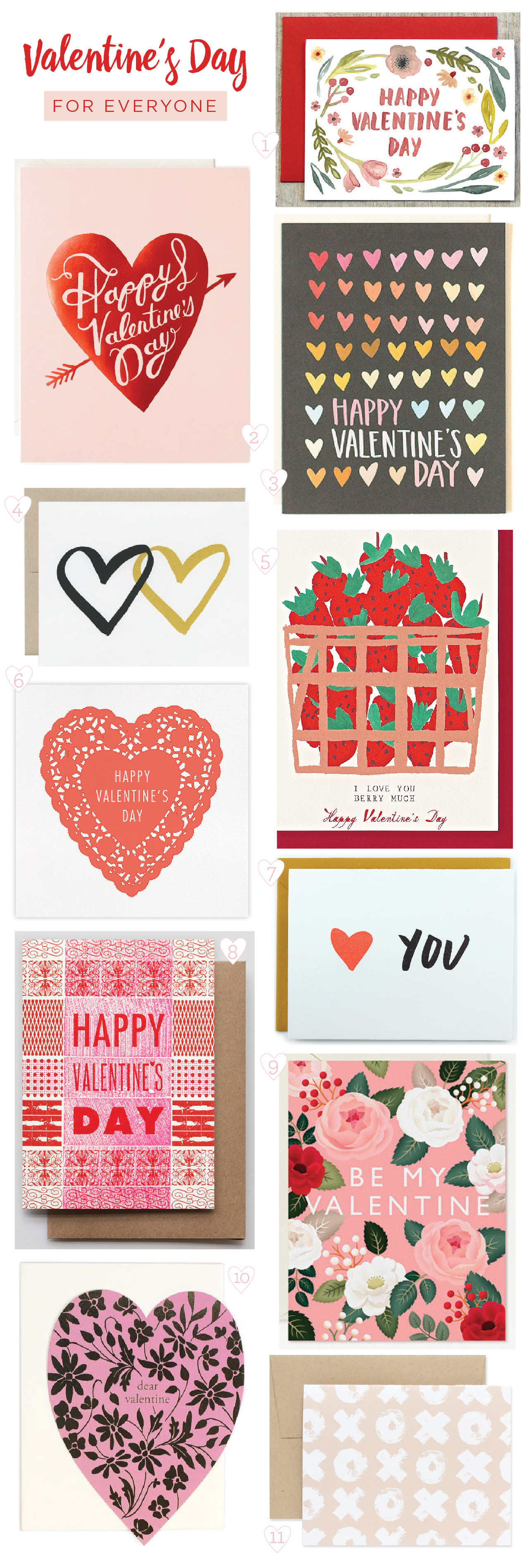 Seasonal Stationery: Valentine's Day Cards