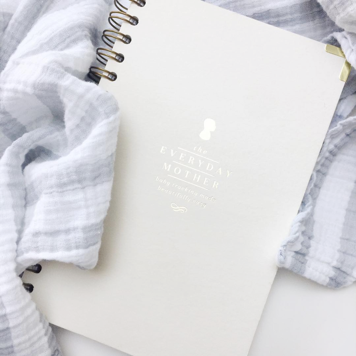 The Everyday Mother: a beautiful notebook for keeping track of newborn feedings, diaper changes, and sleep patterns