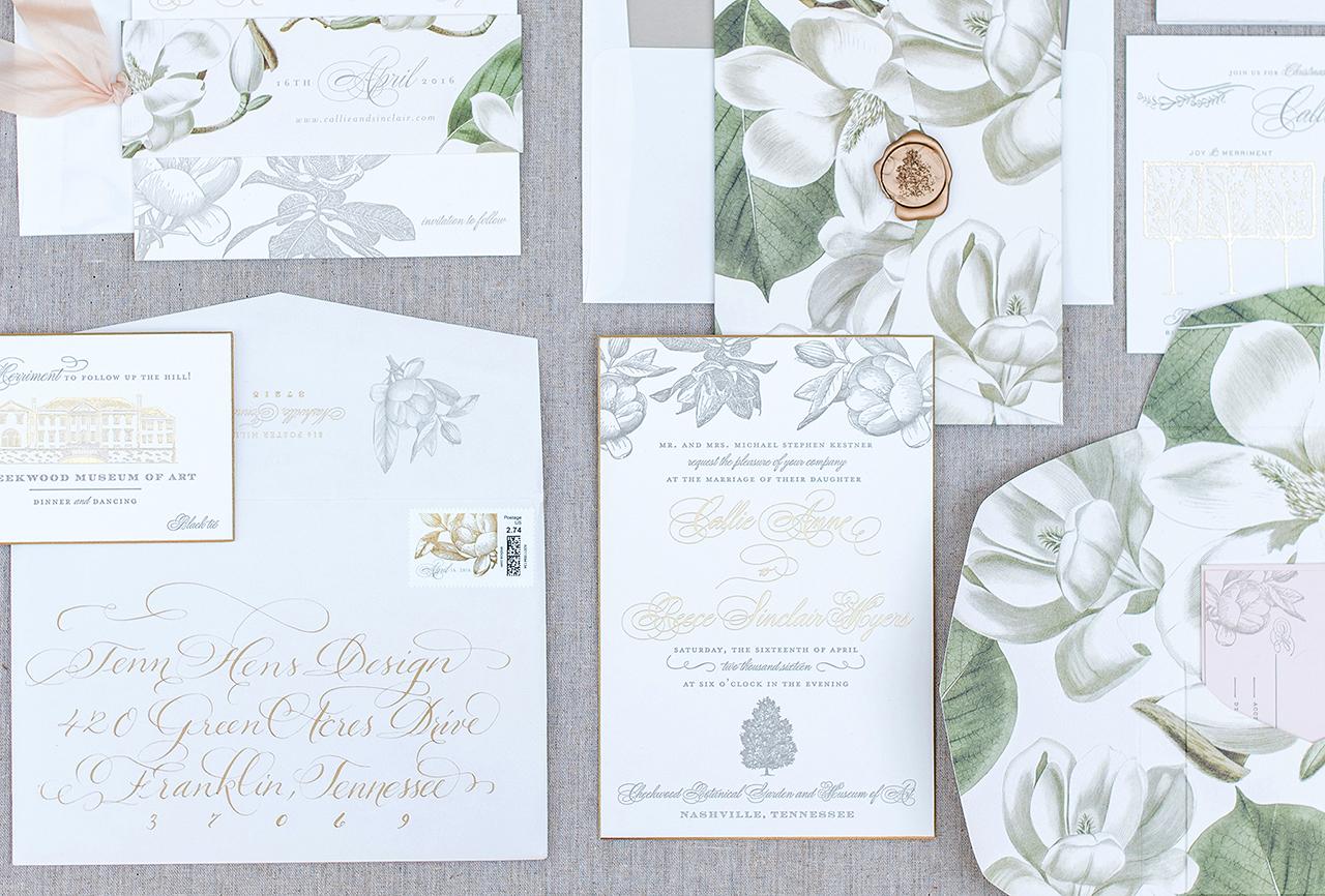 Timeless Southern Magnolia Wedding Invitations by Tenn Hens DesignTimeless Southern Magnolia Wedding Invitations. Nashville Wedding Invitations. Home Design Ideas