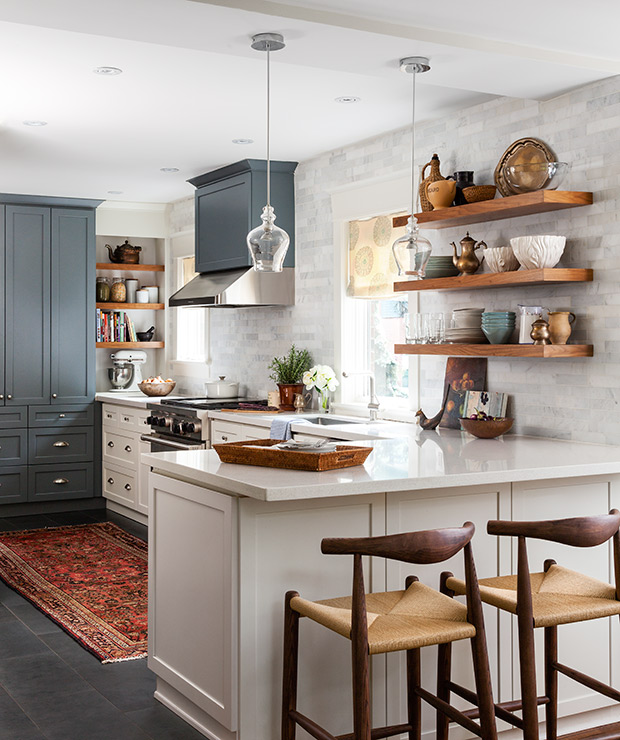Kitchen Inspiration: Qanuk Interiors Kitchen via House & Home / Photo Credit: Donna Griffith Photography
