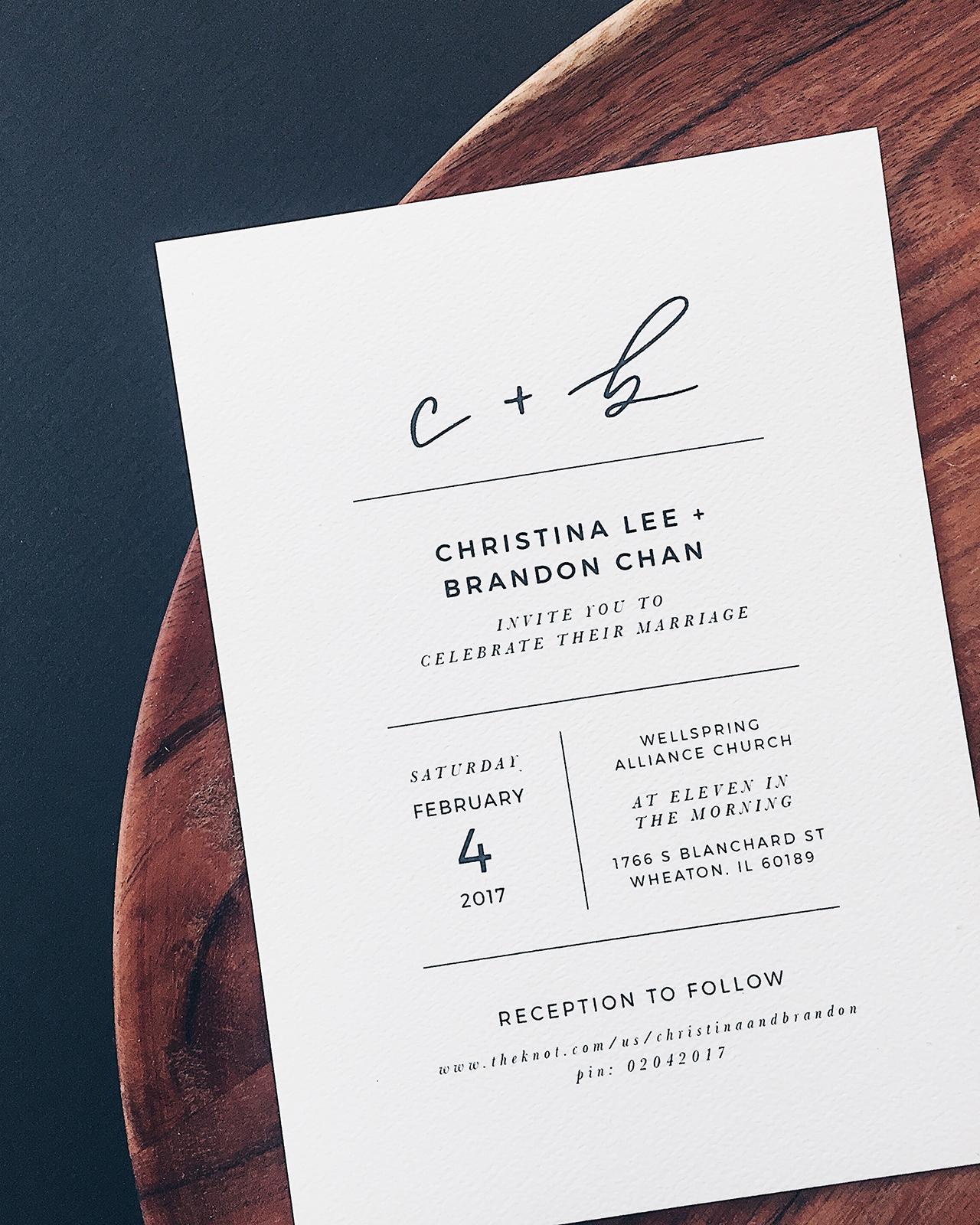 Minimalist black and white hand lettered wedding invitations minimalist black and white handlettered wedding invitations by grace niu stopboris Image collections