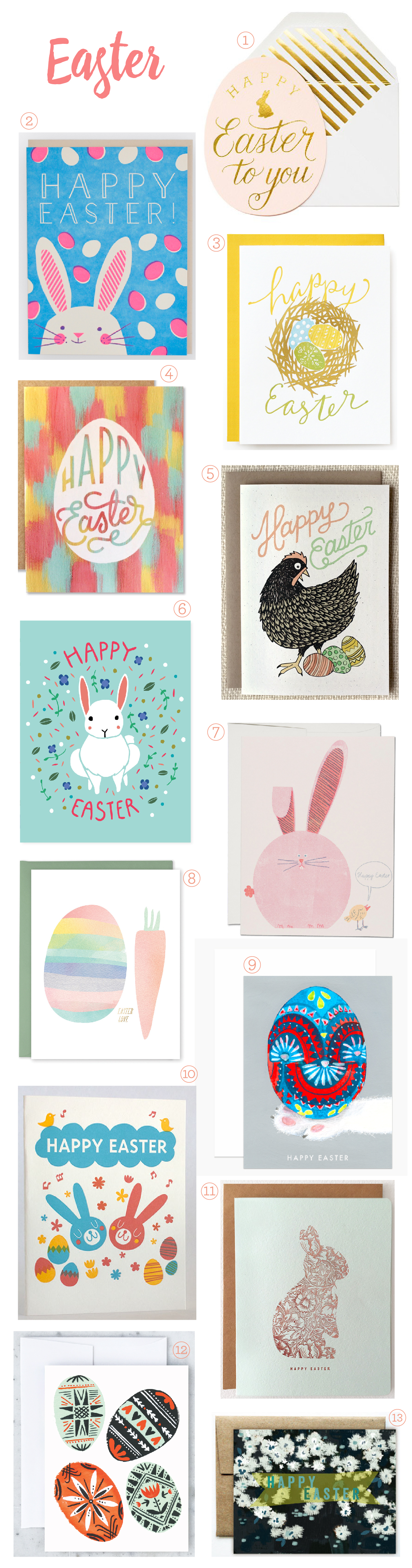 Seasonal Stationery: Easter Card Round Up