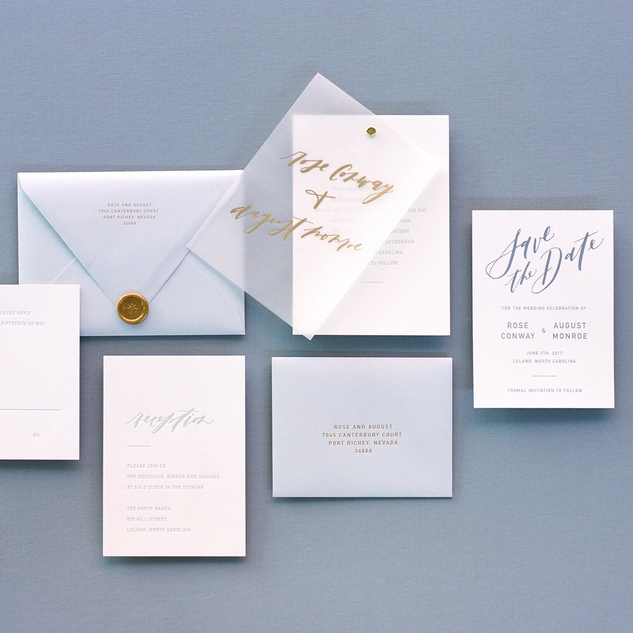 Vellum Wedding Invitation Inspiration by Owl Post Calligraphy