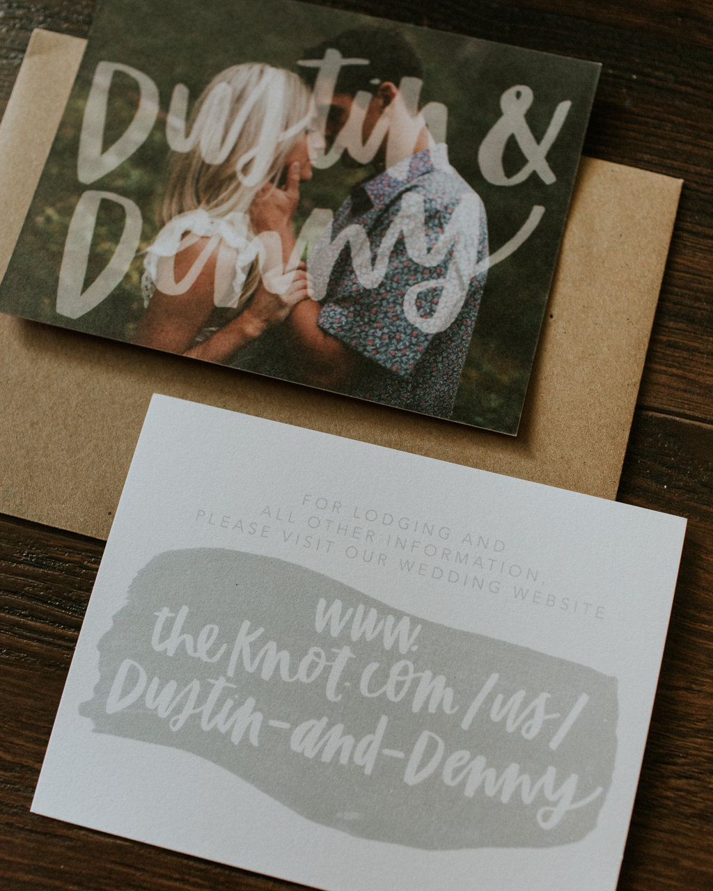 Rustic Succulent-Inspired Gray and Green Wedding Invitations by Eleven and West