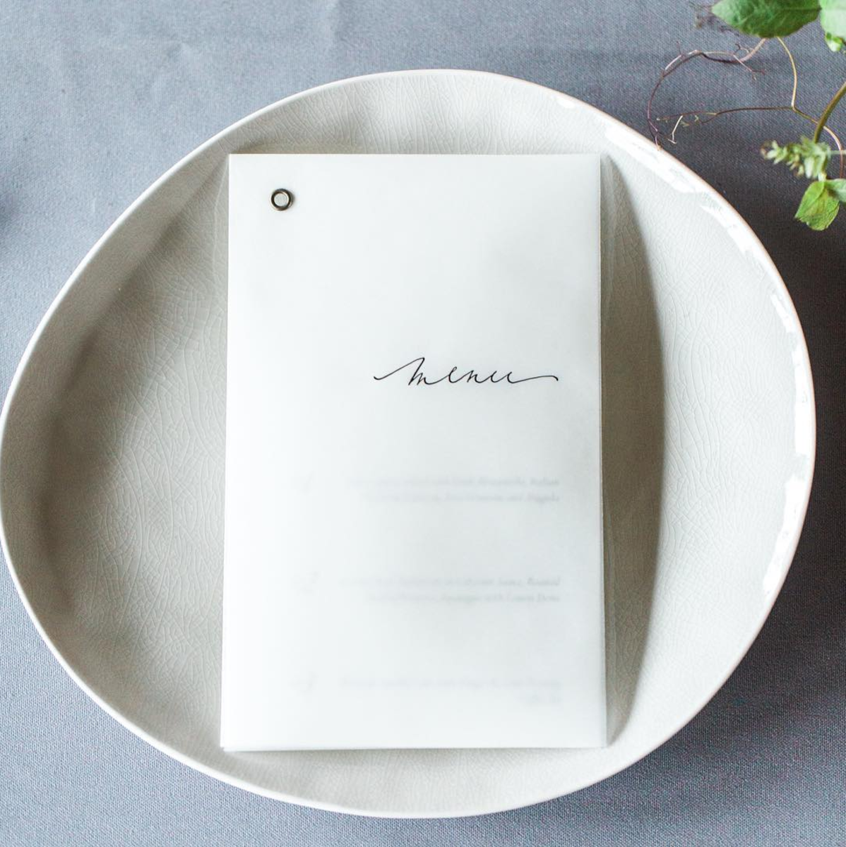 Vellum Menu by Willow Visuals