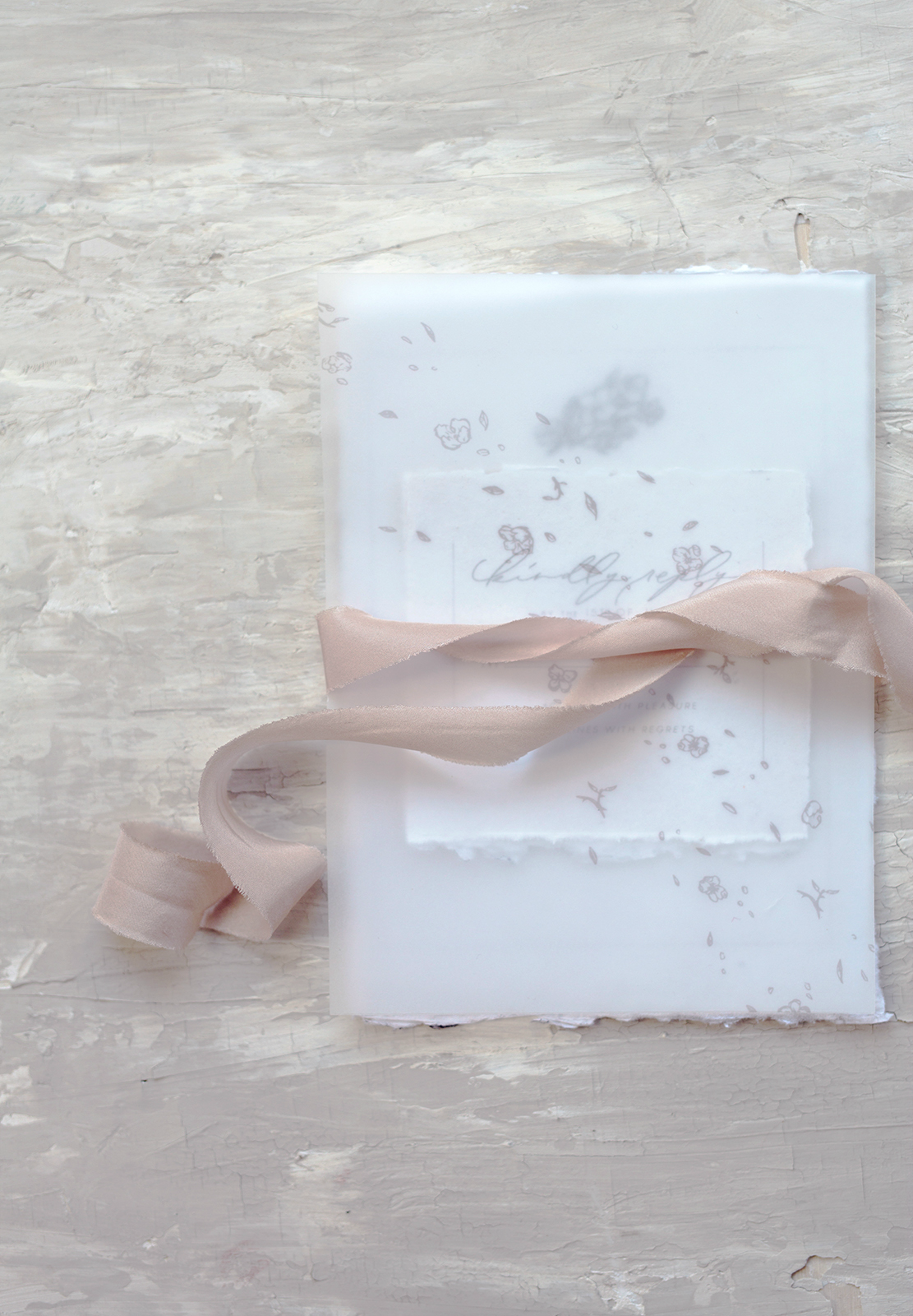 Ethereal Vellum Wedding Invitations by KidGolightly Calligraphy