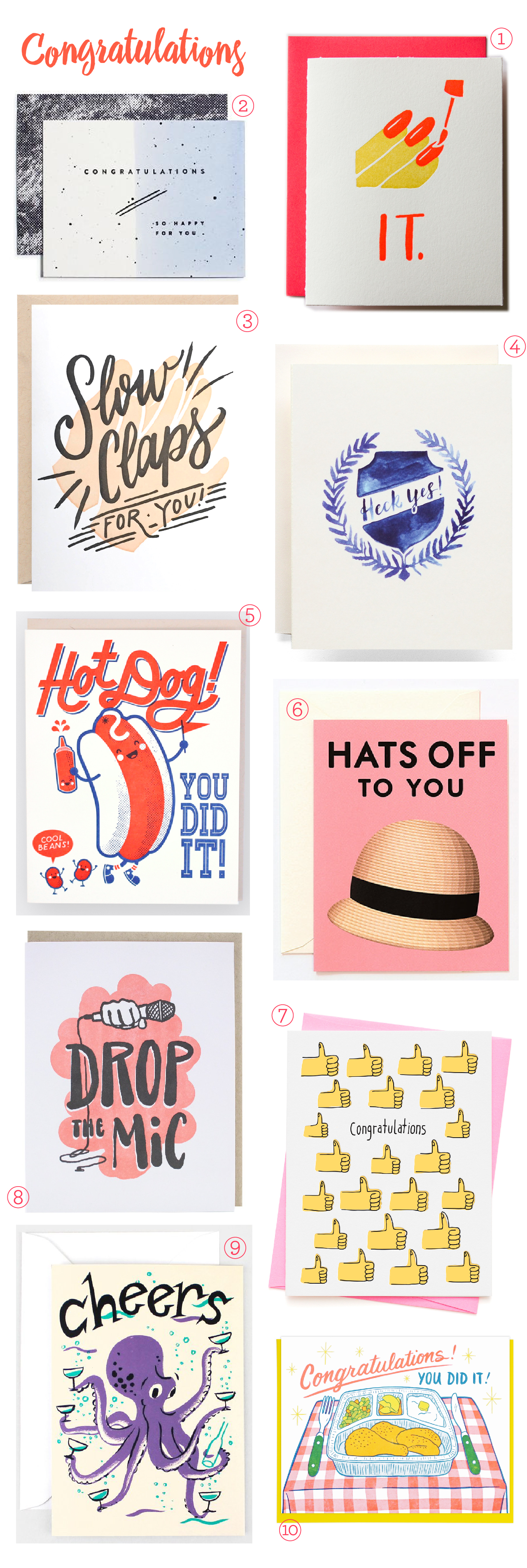 Stationery A-Z: Congratulations Card Round Up