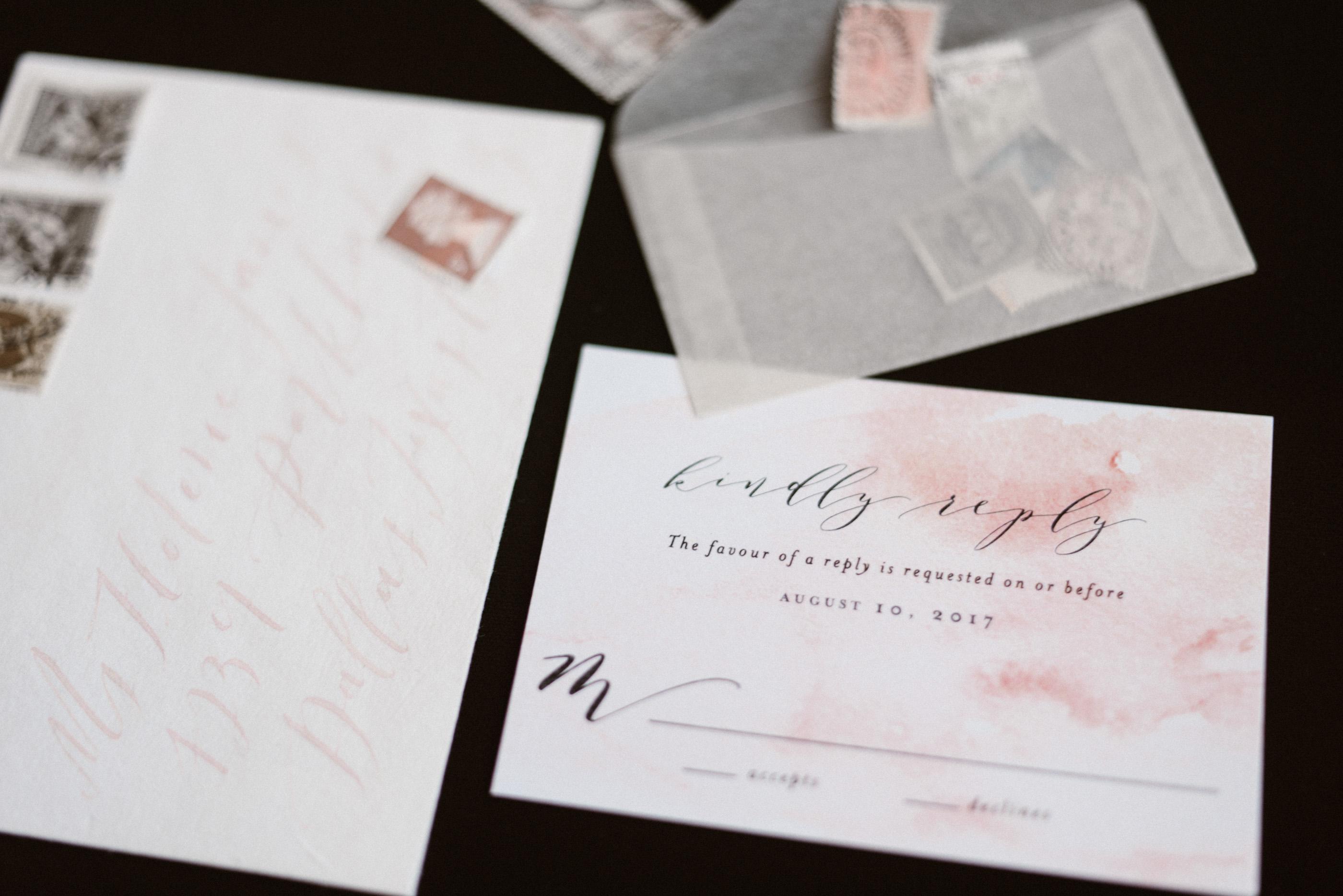 Romantic Watercolor Floral Wedding Invitations