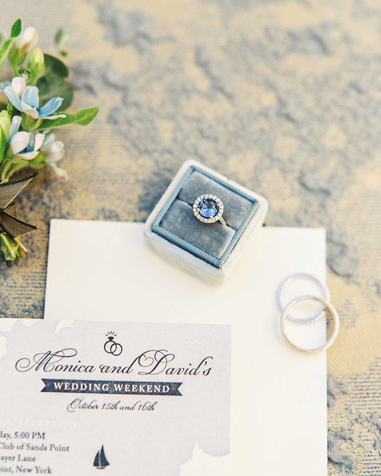 Classic and Romantic Dusty Blue Wedding Invitations