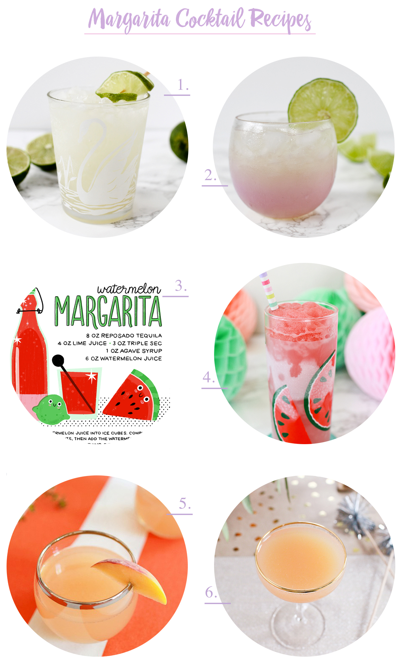Margarita Cocktail Recipes