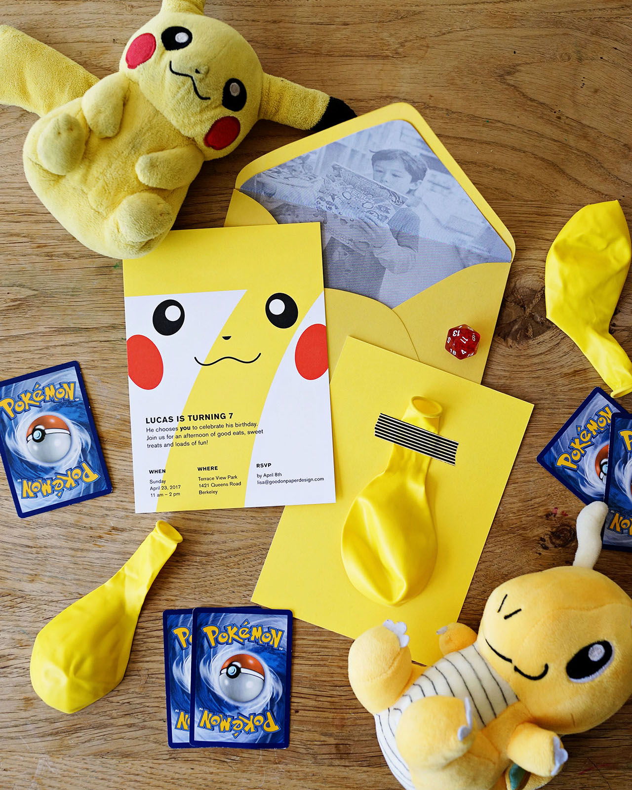 Pokemon Birthday Party Invitations from Good on Paper