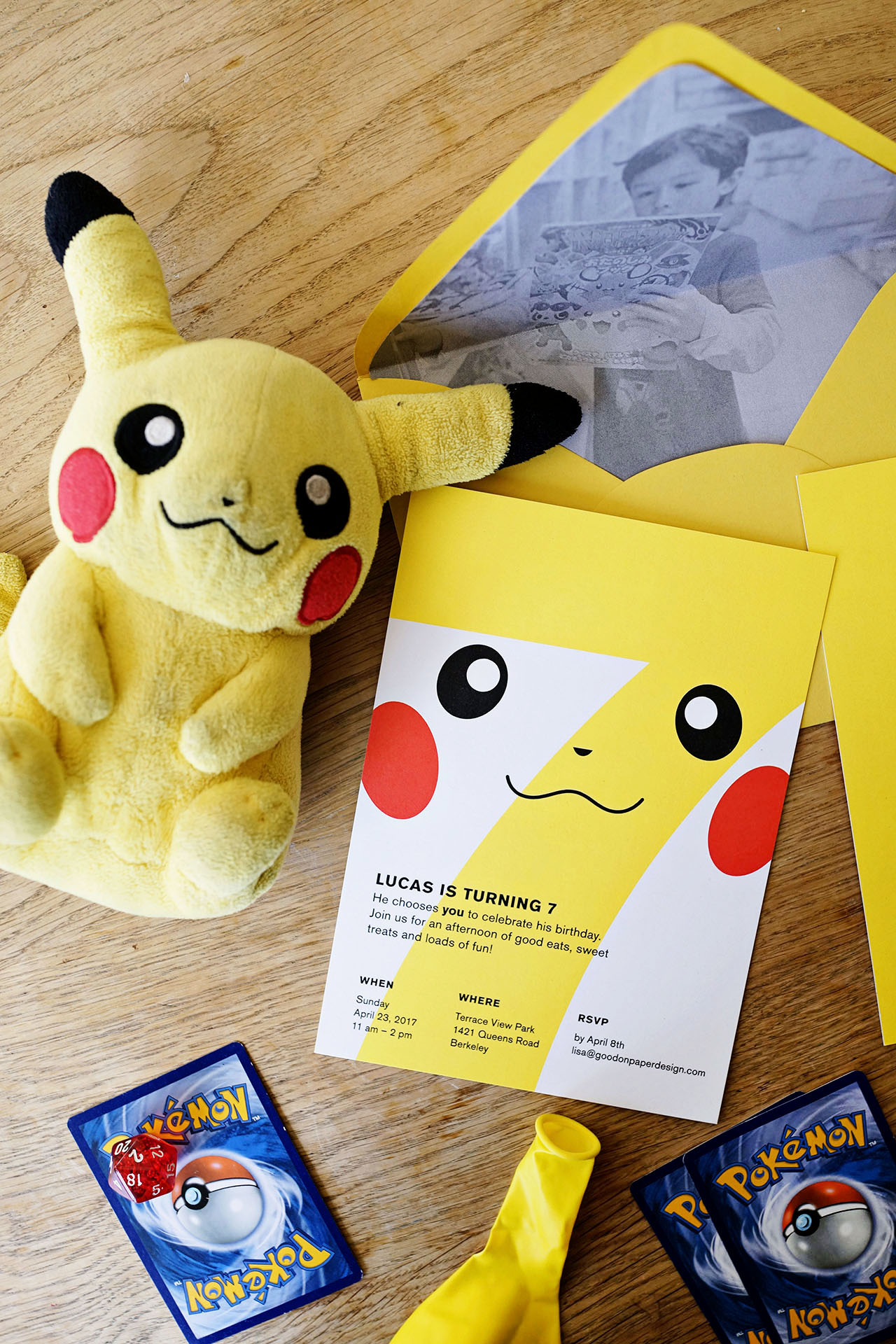 Kids party invitations archives oh so beautiful paper lucass pokemon birthday party invitations filmwisefo