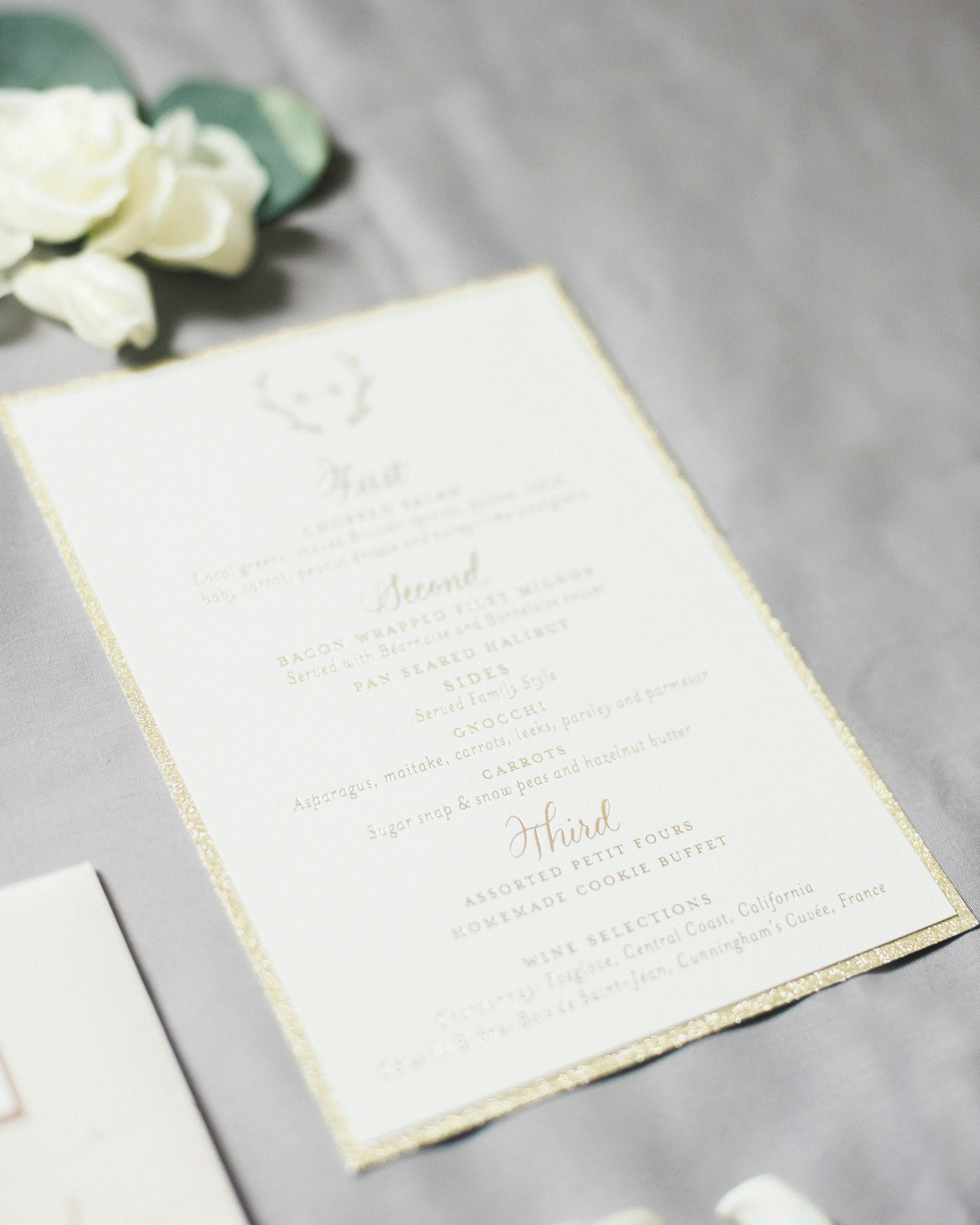 Elegant Cream and Gold Wedding Invitations by Ruby the Fox