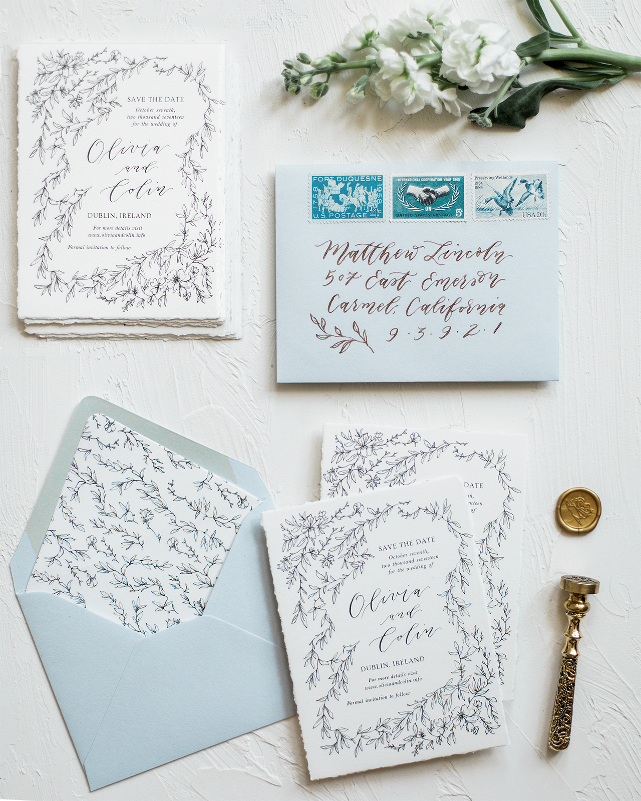Wedding Calligraphy Inspiration from Emily Rose Ink