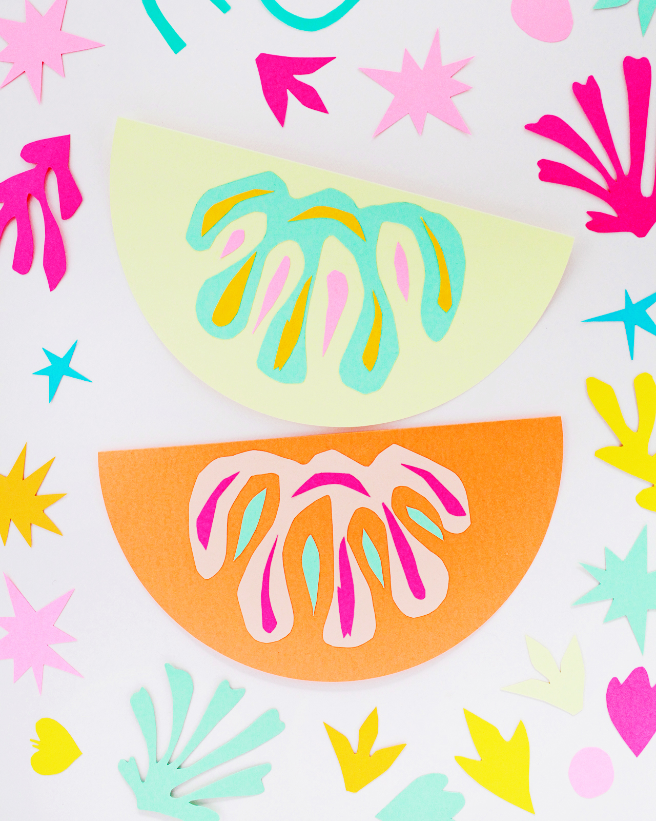 DIY Matisse-Inspired Cut Paper Garland