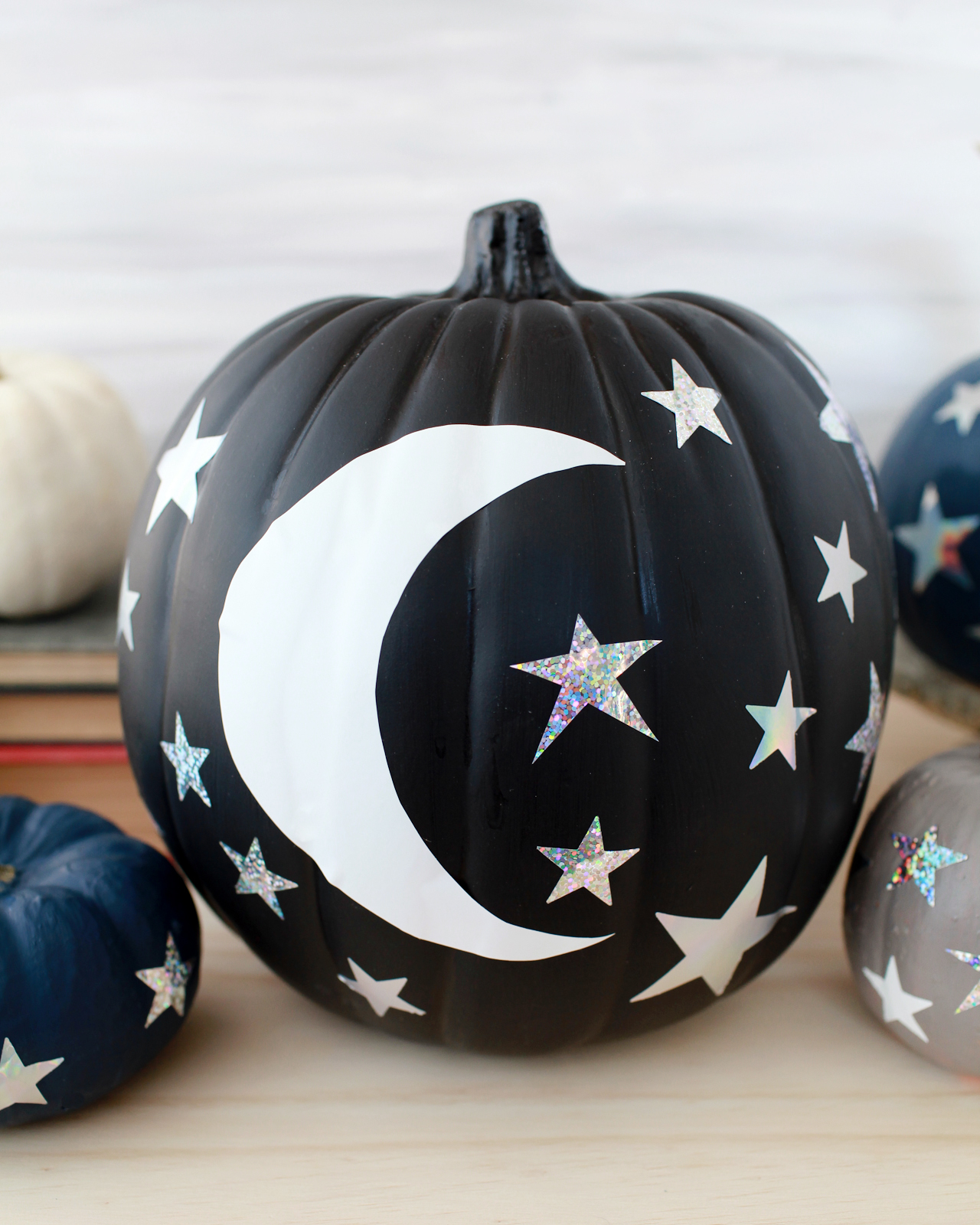 DIY Moon and Stars Pumpkins