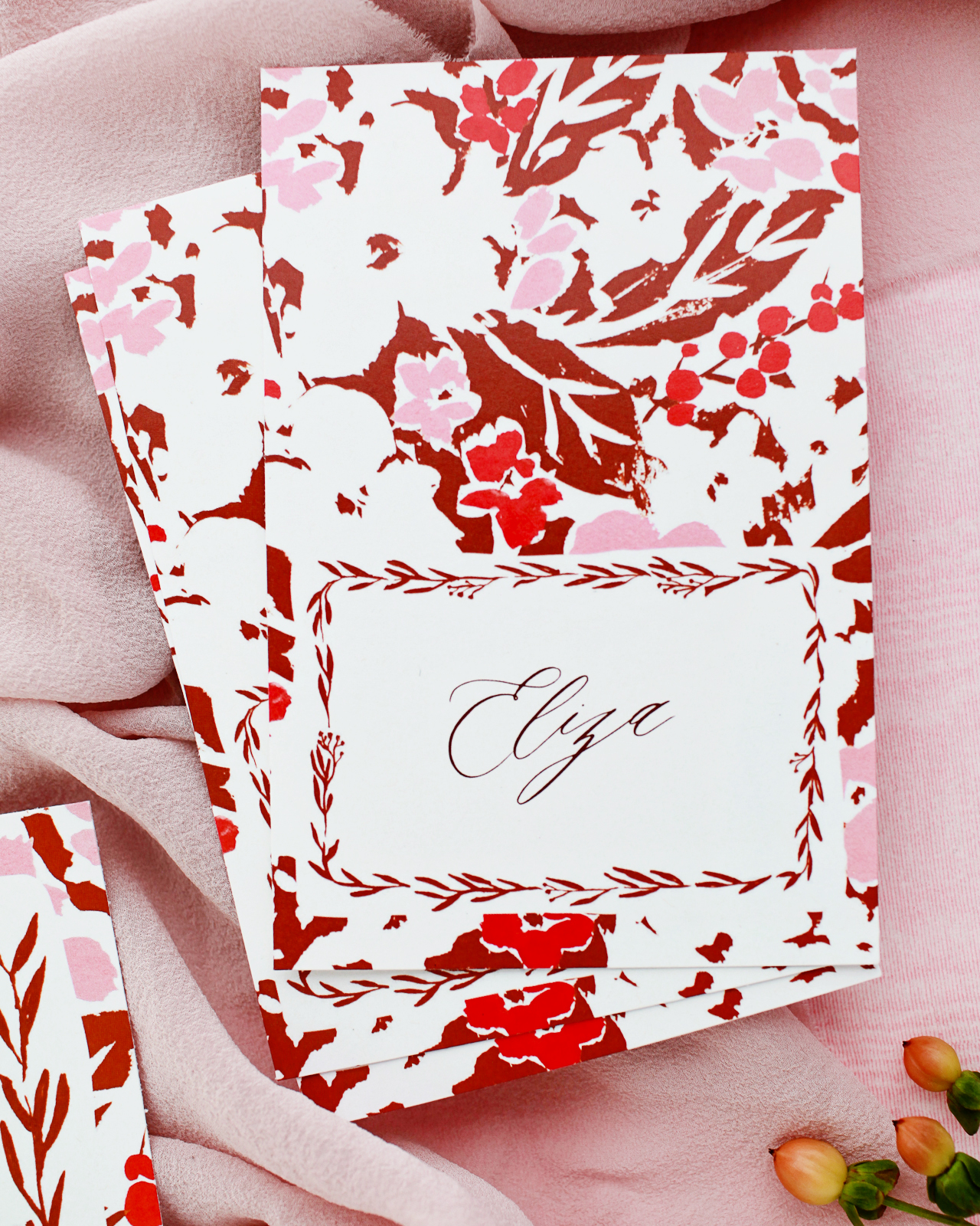 Printble Floral Thanksgiving Dinner Stationery by Juliet Meeks Design