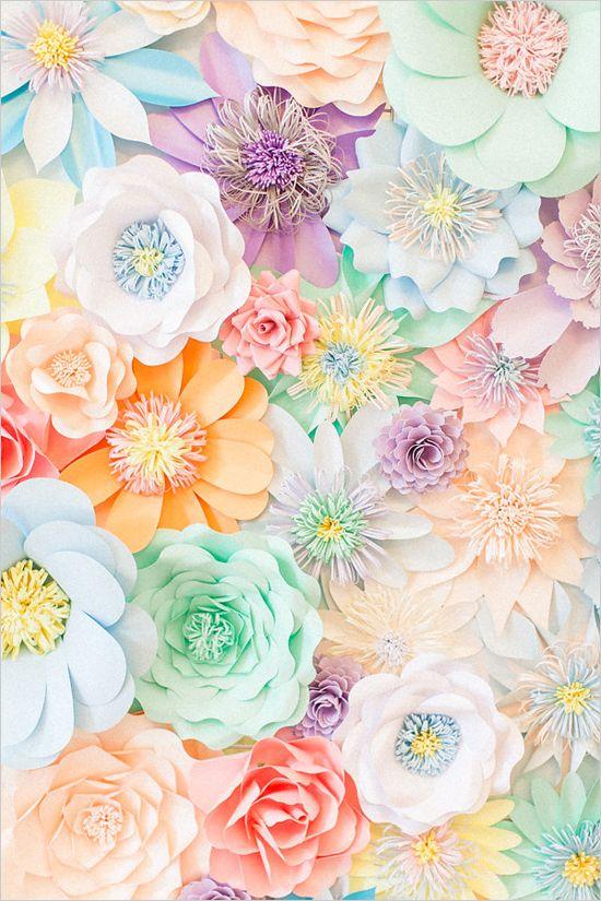 Paper flower ideas paper flower backdrop mightylinksfo