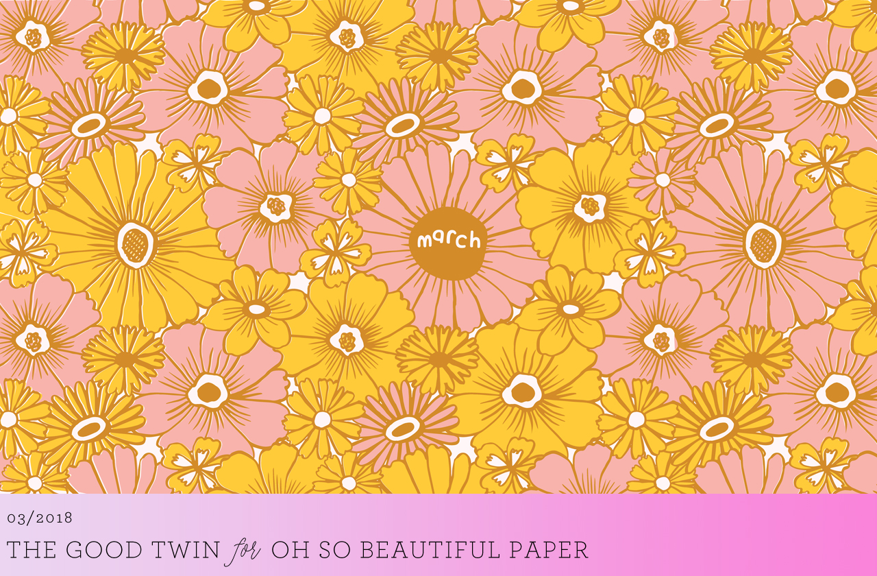 March Floral Wallpaper / The Good Twin for Oh So Beautiful Paper