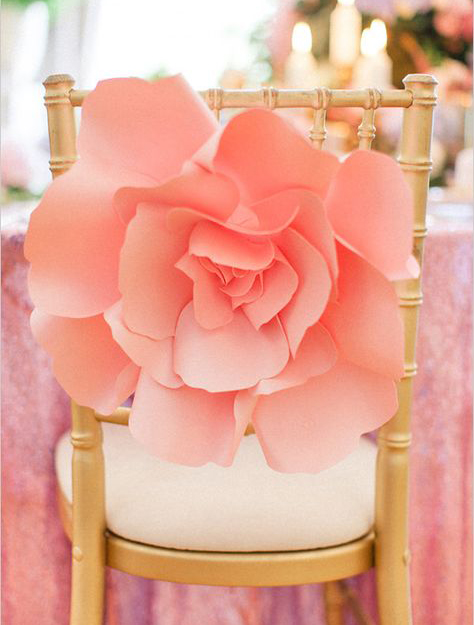 Paper Flower Chair Decoration