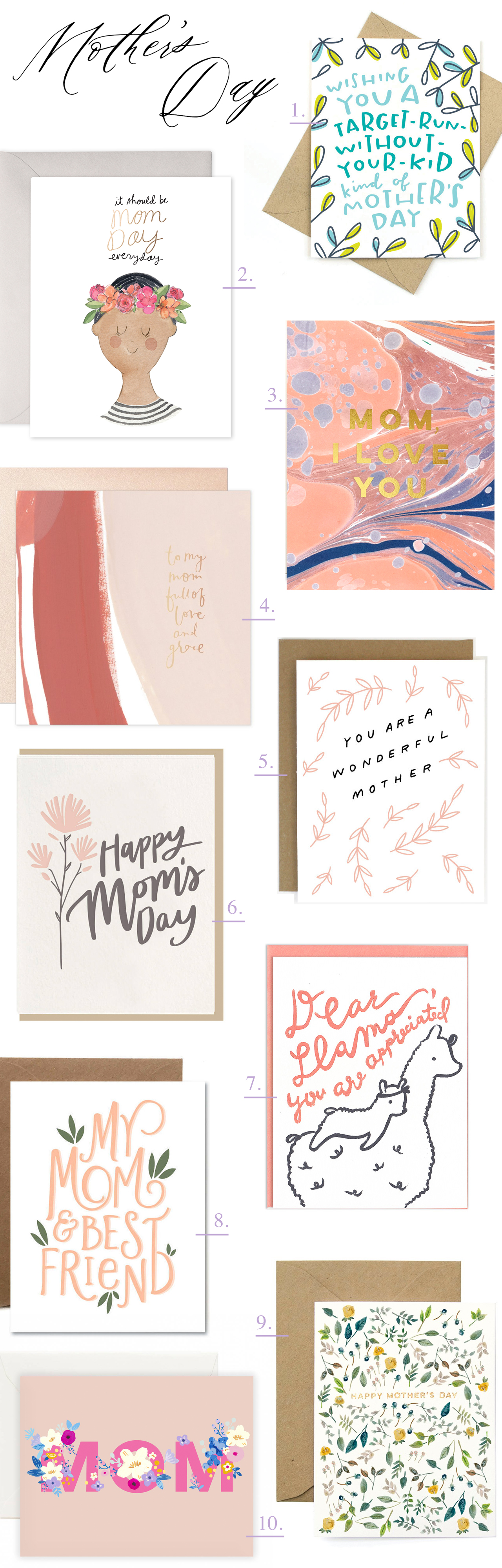 Ten Awesome Mother's Day Cards