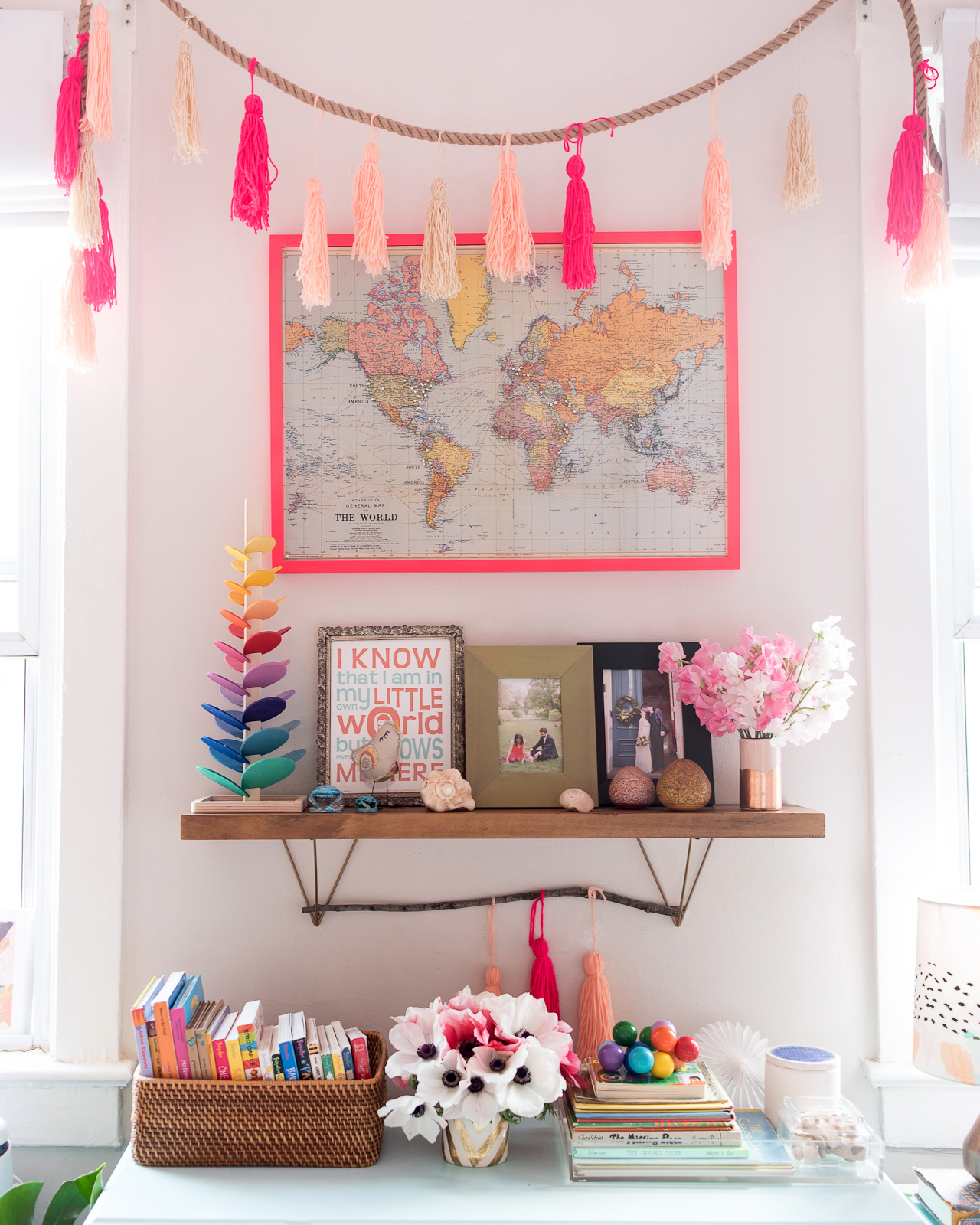 A Colorful Shared Girls Nursery / Oh So Beautiful Paper