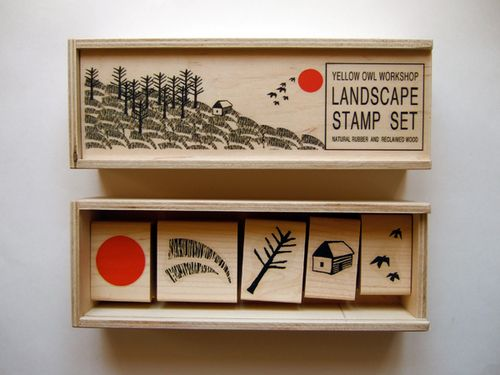 Yellow-owl-workshop-landscape-stamps