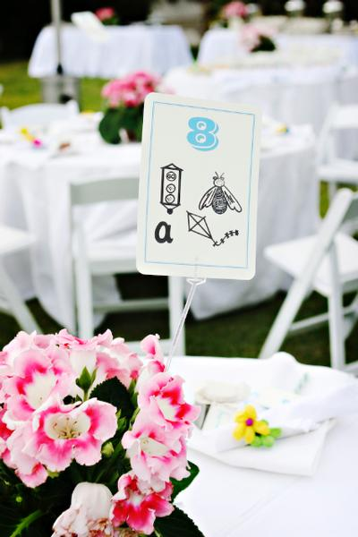 Fun Wedding Table Numbers Escort Card Idea