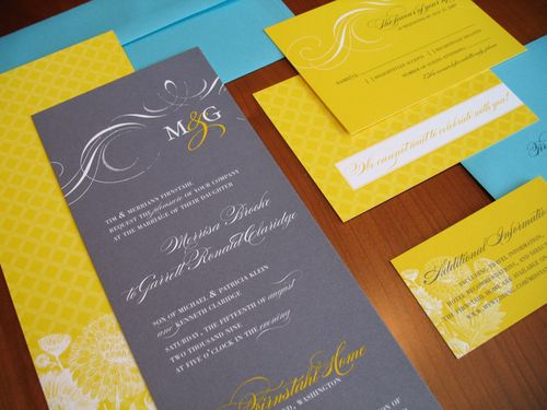 missy garrett featuring a fabulously bold yellow gray teal color