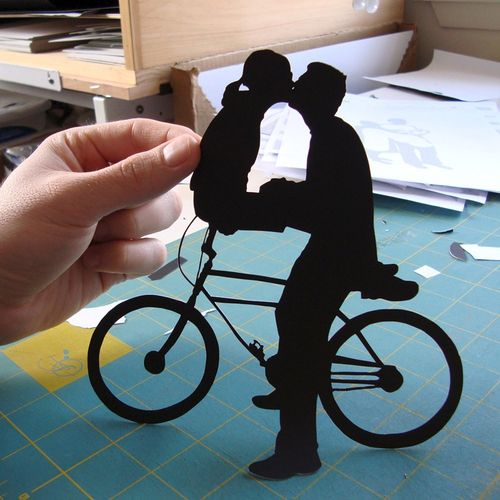 Papercuts-by-Joe-Bicycle-Silhouette